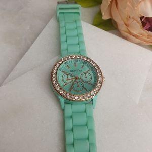 Geneva Mint Silicone Watch